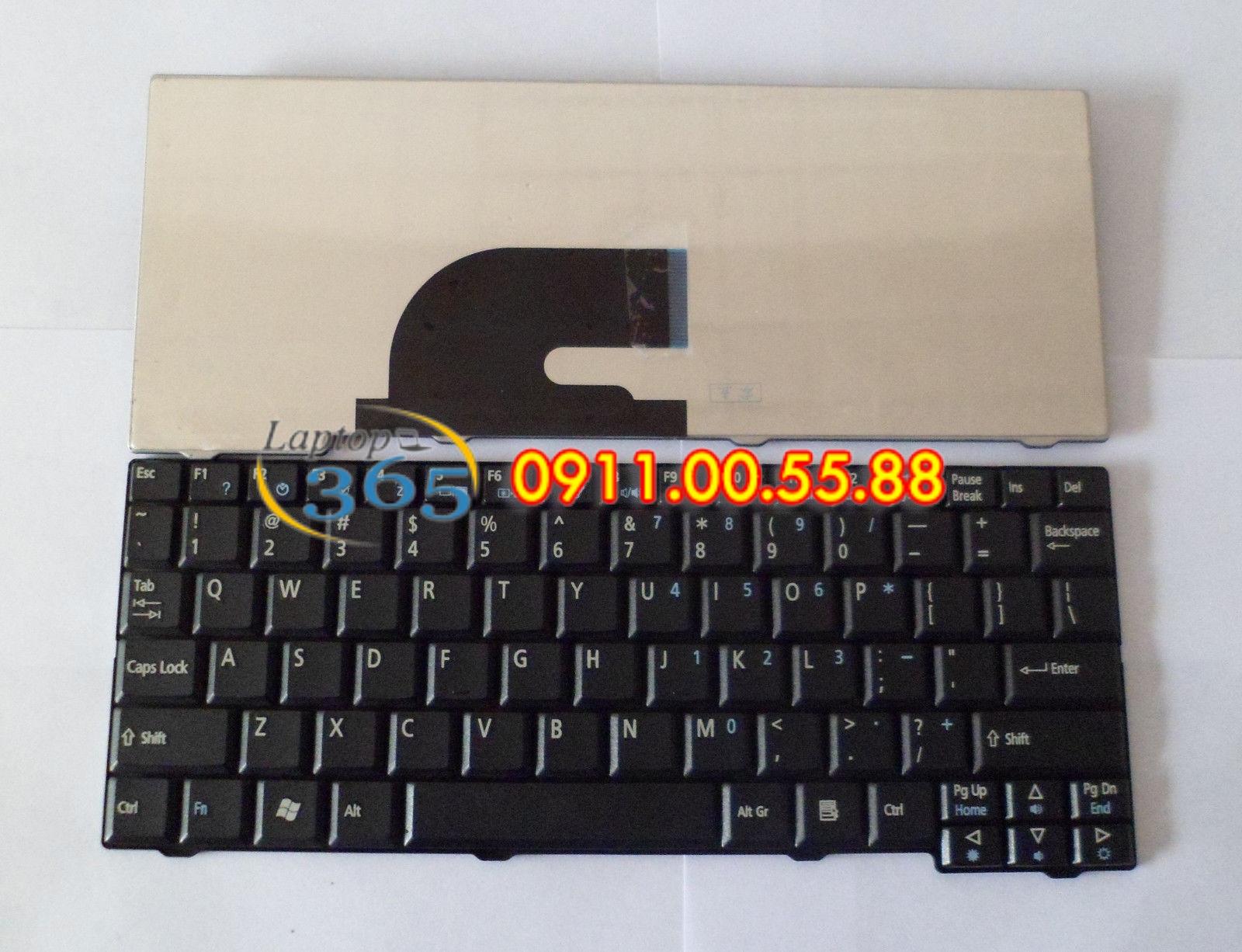 Bàn Phím Laptop Acer Aspire One ZG5 (đen-trắng) series