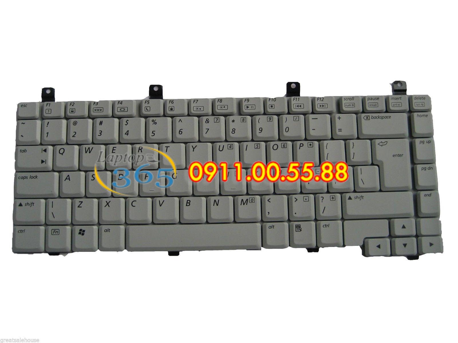 Bàn Phím Laptop HP Pavilion ZV5400 (đen, trắng)