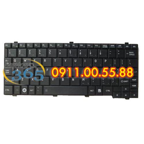 Bàn Phím Laptop Toshiba Mini NB205 (đen-bạc)