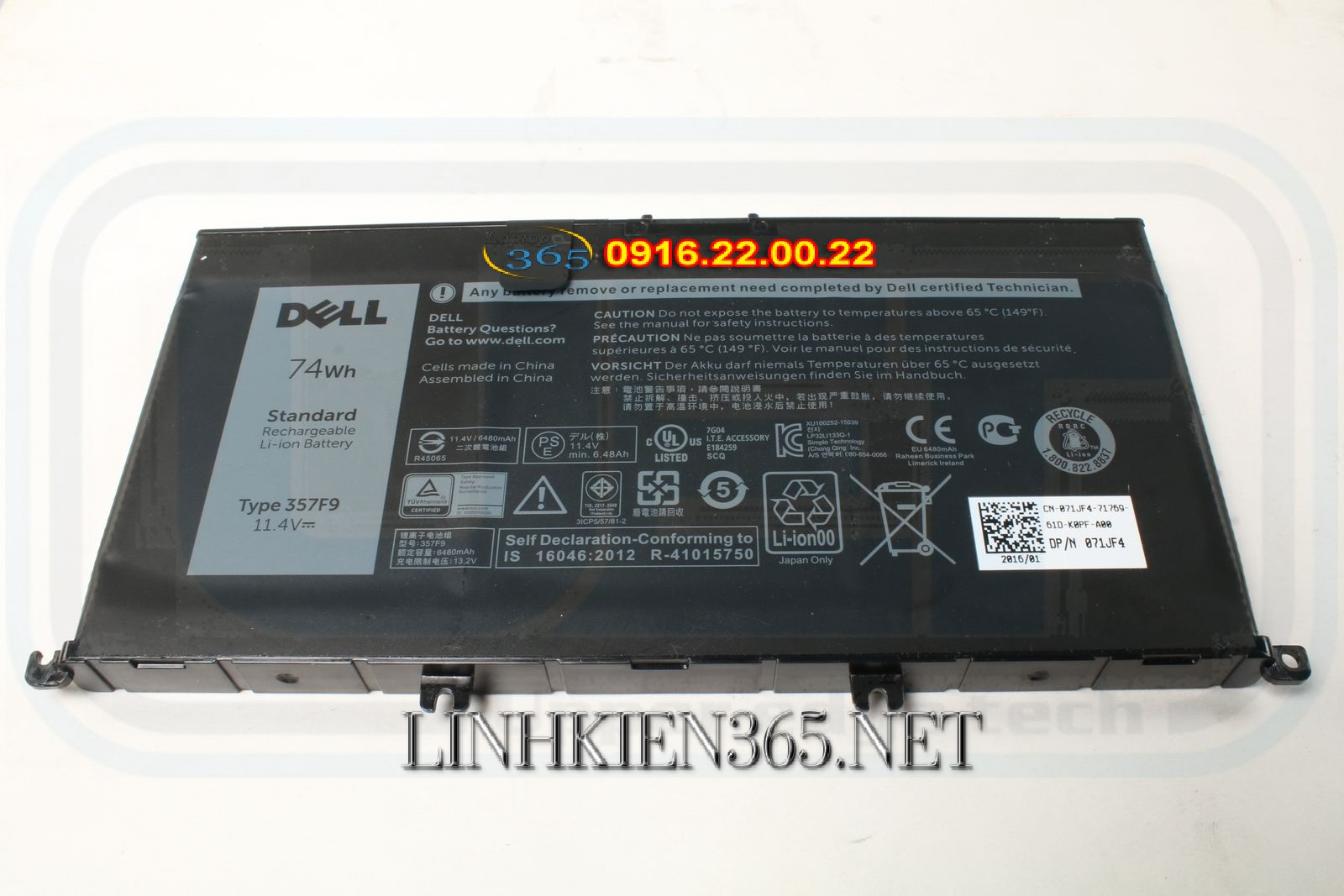 Pin Laptop Dell Inspiron 7567