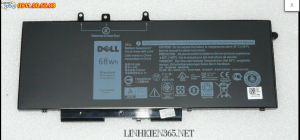 Pin laptop Dell Latitude 5280 68Wh