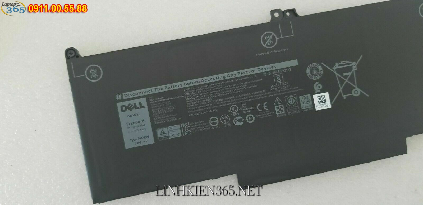 Pin laptop Dell Latitude 7300