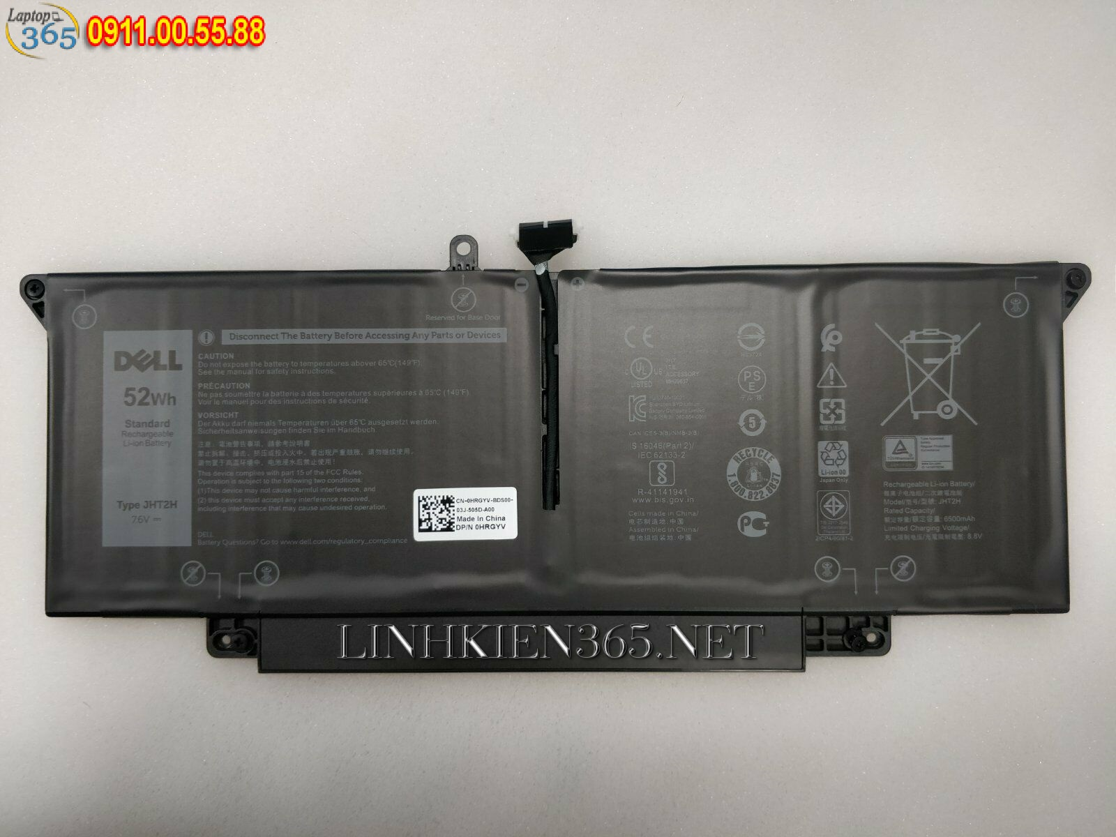 Pin laptop Dell Latitude 7410